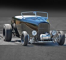 1932 Ford Roadster on B/W by DaveKoontz