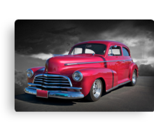 1946 Chevy Sedan on B/W Canvas Print