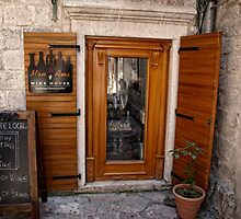 Wine Shop, Kotor, Montenegro. by Dave Morrison