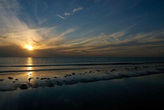 Sunset over St. Petersburg Beach in Florida by 242Digital