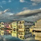 Last sun rays of the day on these house-boats in Key West, Florida by 242Digital