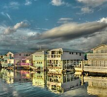 Last sun rays of the day on these house-boats in Key West, Florida by Jeremy Lavender Photography