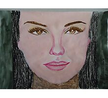 Thalia in acrylic and oil Pastel.... Photographic Print