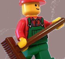 LEGO® City 'Bert the Street Cleaner' Minifigure, by 'Customize My Minifig' by Chillee
