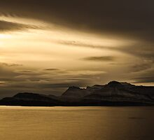 Fjord, Faskruosfjodur, East Iceland by Dean Bailey