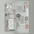 Auto Brand iPad Case by tapiona