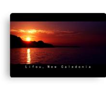 Lifou island at Twilight Canvas Print