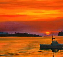 Sunrise in Maine by Phillip Compton