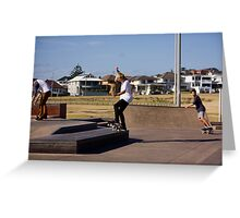 Fakie Ollie To Fakie Manual Greeting Card