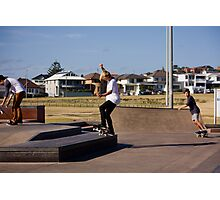 Fakie Ollie To Fakie Manual Photographic Print