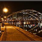 The Freddy Sue Bridge at Night by Mikell Herrick