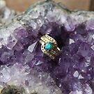 Black Opal in Amethyst by aussiebushstick