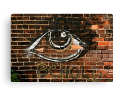 Beauty is in the Eye Canvas Print
