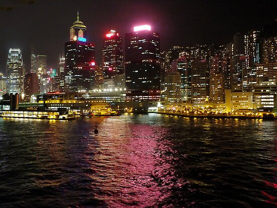 Victoria Harbour at Night by Lucinda Walter