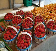 Summer Market, L'Isle-sur-la-Sorgue  by Marie Watt