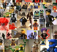Custom Minifigure Collage by 'Customize My Minifig' by Chillee