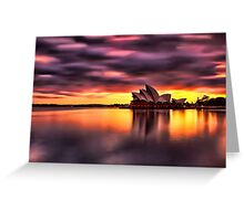 Opera House Sunrise Greeting Card