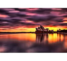 Opera House Sunrise Photographic Print