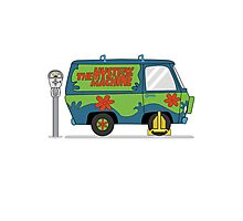 Mystery Machine Wheel Clamp  Photographic Print