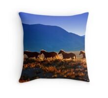 Mustang Trail Throw Pillow