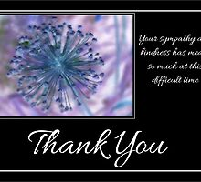 Thank You Sympathy with Blue & Purple Floral Photograph by Catherine Roberts