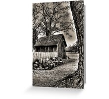 Out to the Woodshed Greeting Card