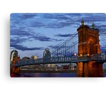 Roebling Bridge Cincinnati Canvas Print