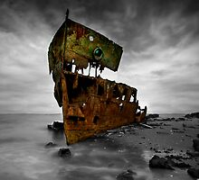 The Wreck of HMQS Gayundah by Ian  Clark