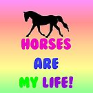 Colorful Horses Are My Life iPhone, iPod or iPad Case by Patricia Barmatz