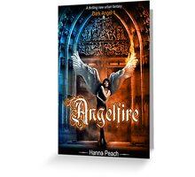 Anglefire book cover for Hanna Peach Greeting Card