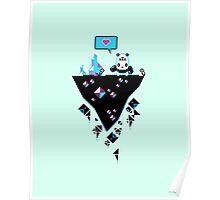 PandaC on Floating Pixel Island Poster