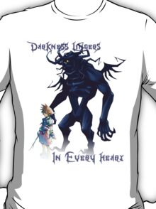 """Darkness Lingers in Every Heart"" Kingdom Hearts T-Shirt"