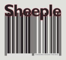 Sheeple Black Left by Paul Fleetham