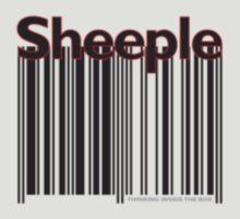 Sheeple Black Left by Paul Fleetham