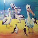 Pelicans by christine purtle