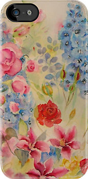 "Iphone case ""Summer border"" by Beatrice Cloake"