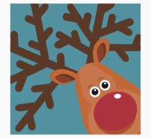 Rudi - Reindeer T-Shirt by BlueShift