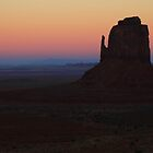 Dusk in Monument Valley by Robyn Lakeman