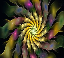 iPad Case - Flower Ripples by Pam Amos