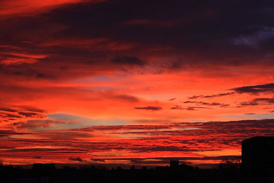 November Sunrise Over Darlington by Ian Alex Blease