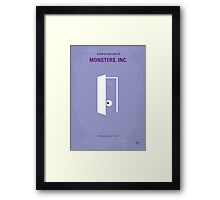 No161 My Monster Inc minimal movie poster Framed Print