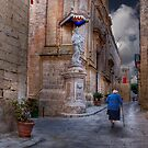 En route to Daily Mass --- Mdina (Island of Malta) by Edwin  Catania