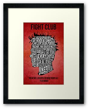Typography Tyler Durden by Adam Grey