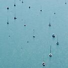 Aerial shot of boats in the sea by claudiagannon