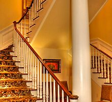 Staircase In Old Historic Charleston by Kathy Baccari