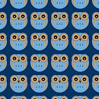 Blue Owls - Phone Case by Louise Parton