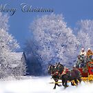 Winter Stagecoach Ride Merry Christmas by Randy & Kay Branham