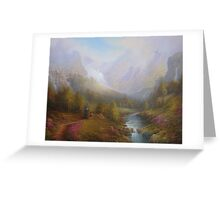 The Misty Mountains Greeting Card