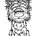 Yorkshire Terrier - Outline by Angry Squirrel Studio