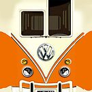 Orange Volkswagen VW with chrome logo iphone 5, iphone 4 4s, iPhone 3Gs, iPod Touch 4g case by pointsalestore Corps